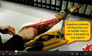 comment couper jambon espagnol iberique serrano