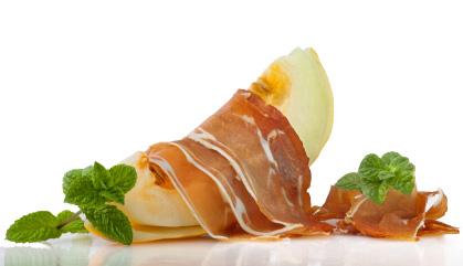 Recette avec jambon espagnol: Melon au jambon