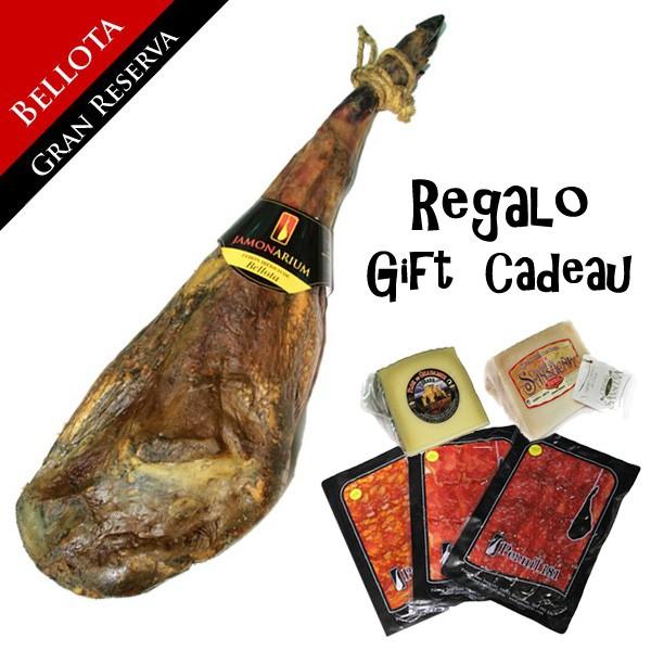 Jambon ibérique Bellota «Gran Reserva 2009» + CADEAU Pack gourmet