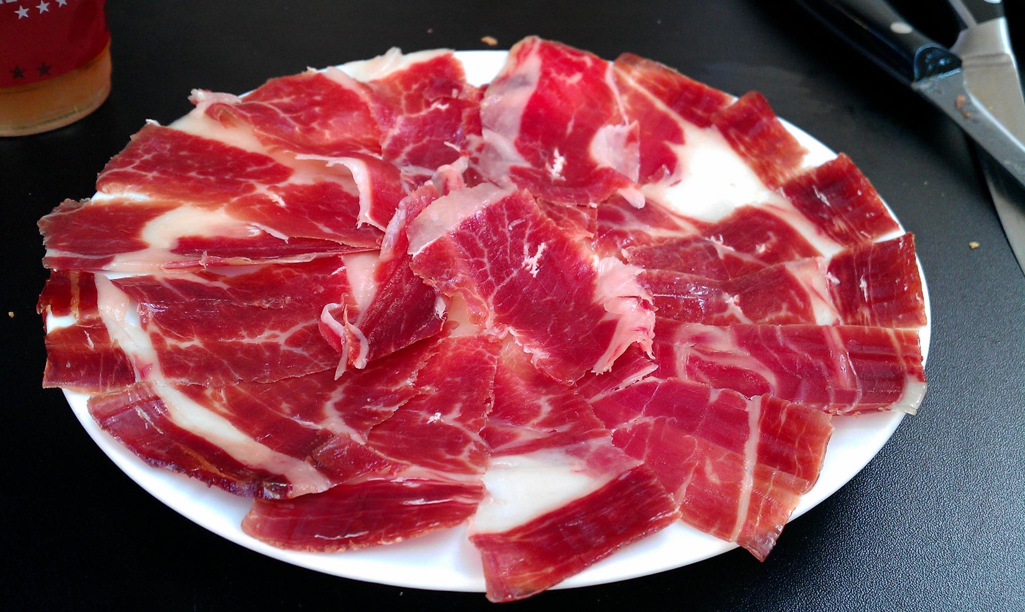 Le porc ibérique dans les rues d'Alberca, surprise!