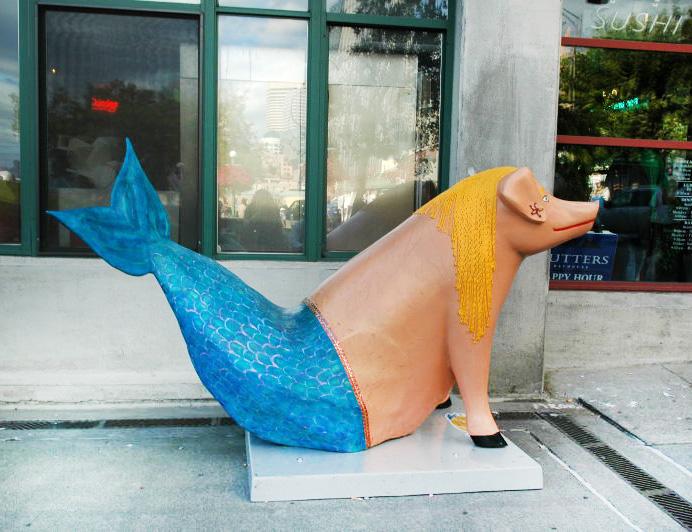 Un cochon-sirene… prêt pour les vacances!!!