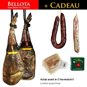 jambon iberique bellota noel coffret gourmet
