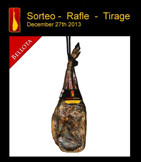 Tirage au sort d'une épaule pata negra Bellota pour les 25 ans de notre boutique a Barcelone
