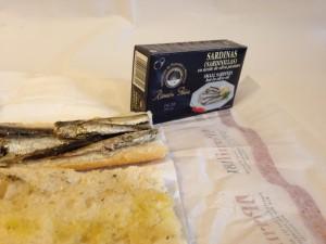 sandwich sardines ramon peña etiquette noir