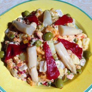 salade printemps poivrons aspergues blancs