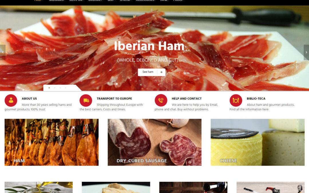 Nous améliorons notre boutique en ligne de jambons et des saucisses ibériques